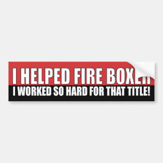 Ayudé al boxeador del fuego pegatina para auto