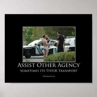 Ayude al otro poster de motivación de la agencia