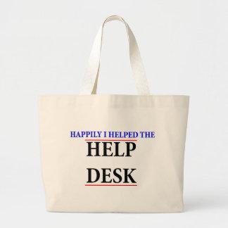 Ayudé al puesto de informaciones bolsa de mano