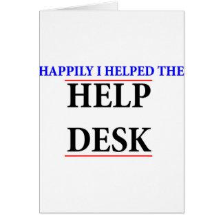 Ayudé al puesto de informaciones tarjeta de felicitación