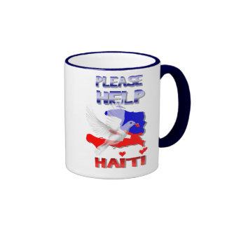 Ayude por favor a la taza de Haití