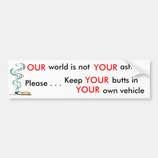 Ayude por favor a mantener nuestro ambiente limpio etiqueta de parachoque
