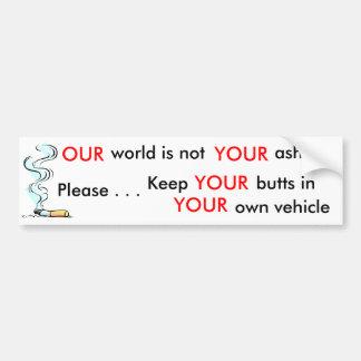 Ayude por favor a mantener nuestro ambiente limpio pegatina para auto
