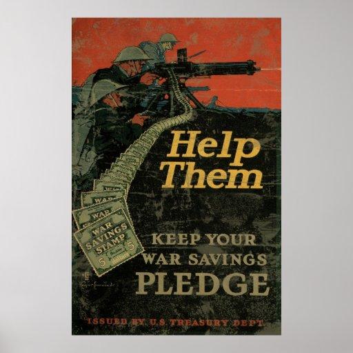 Ayúdeles para guardar su compromiso de los ahorros póster