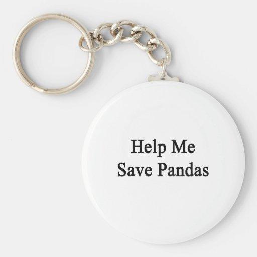 Ayúdeme a ahorrar pandas llaveros personalizados