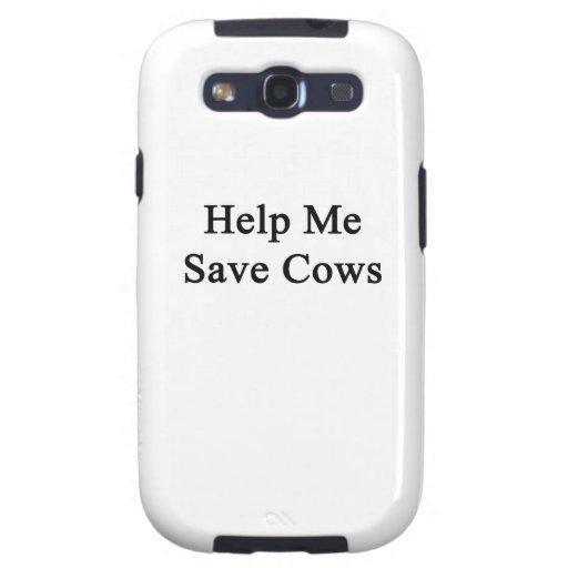 Ayúdeme a ahorrar vacas galaxy SIII coberturas