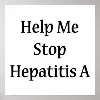 Ayúdeme a parar la hepatitis A Poster