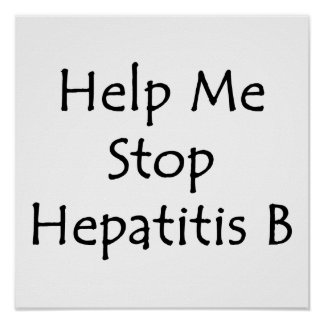 Ayúdeme a parar la hepatitis B Posters