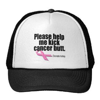 Ayúdeme por favor a golpear extremo del cáncer con gorro