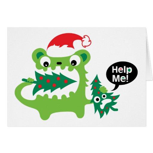 Ayúdeme tarjeta de Navidad
