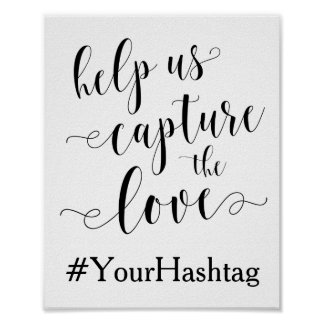Ayúdenos a capturar el amor - casar la muestra de póster