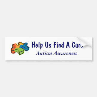 Ayúdenos a encontrar una curación - conciencia del pegatina para auto