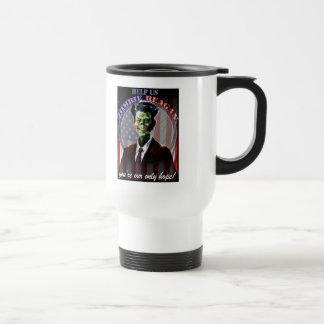 ¡Ayúdenos zombi Reagan! bilateral Tazas De Café