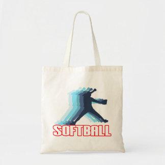 Ayuna la silueta del softball de la echada bolsas de mano