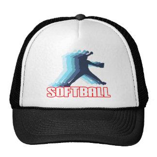 Ayuna la silueta del softball de la echada gorras
