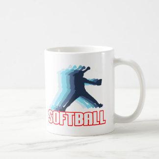 Ayuna la silueta del softball de la echada taza