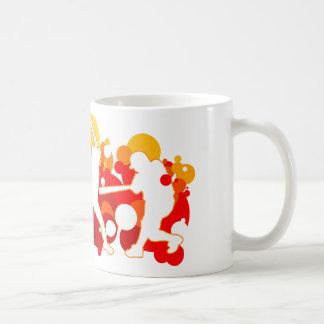 Ayunan los jugadores de softball de la echada tazas de café