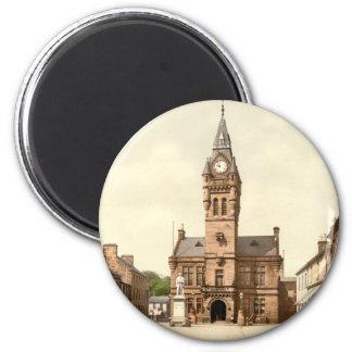 Ayuntamiento, Annan, Dumfries y Galloway, Escocia Imán Redondo 5 Cm