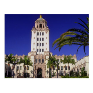 Ayuntamiento, Beverly Hills, California, los E.E.U Tarjeta Postal