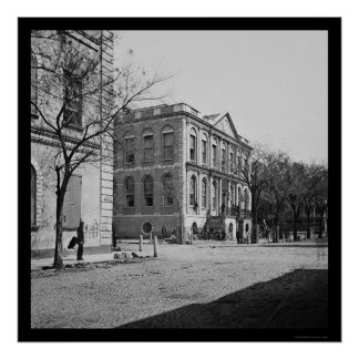 Ayuntamiento de Charleston, SC 1865 Póster