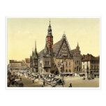 Ayuntamiento del este, Breslau, Silesia, Alemania Postales