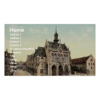 Ayuntamiento, Erfurt, Thuringia, Alemania Photoch  Tarjetas De Visita
