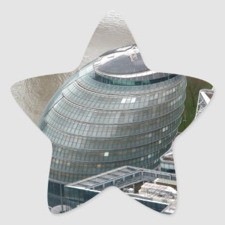 Ayuntamiento Londres Inglaterra Calcomania Forma De Estrella Personalizada