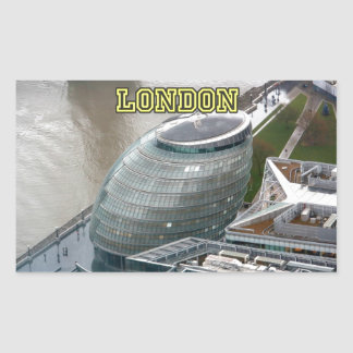 Ayuntamiento Londres Inglaterra Pegatina Rectangular