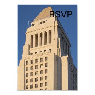 """Ayuntamiento Los Ángeles Invitación 3.5"""" X 5"""""""