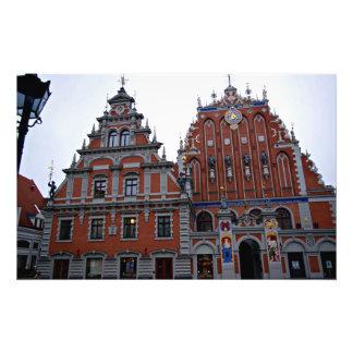Ayuntamiento majestuoso Riga, Letonia Arte Fotografico