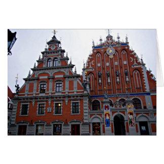 Ayuntamiento majestuoso Riga, Letonia Tarjeta De Felicitación