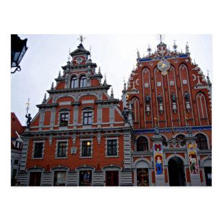 Ayuntamiento majestuoso Riga, Letonia Tarjetas Postales