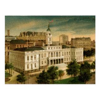 Ayuntamiento Nueva York el vintage Postal