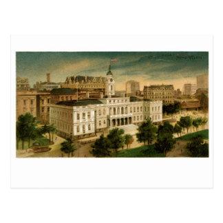 Ayuntamiento Nueva York el vintage Postales
