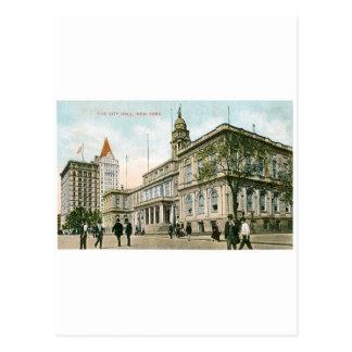 """Ayuntamiento"" Nueva York Tarjeta Postal"