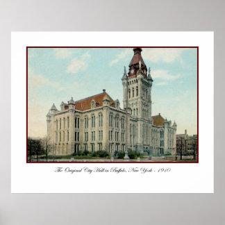 Ayuntamiento original en poster del búfalo