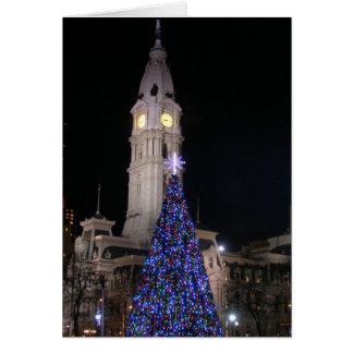 Ayuntamiento Philadelphia en el navidad Tarjeta De Felicitación