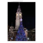 Ayuntamiento Philadelphia en el navidad Tarjetas