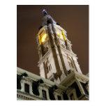 Ayuntamiento Philadelphia en la noche Tarjetas Postales