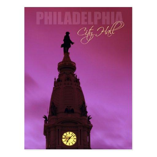 Ayuntamiento Philadelphia en Pennsylvania Tarjetas Postales