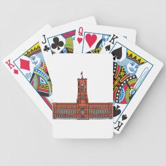 Ayuntamiento rojo Berlín Baraja Cartas De Poker