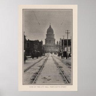 Ayuntamiento San Francisco a partir del 8va St Posters
