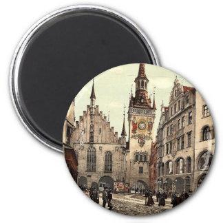 Ayuntamiento viejo, Munich, Baviera, Alemania magn Imán De Frigorífico