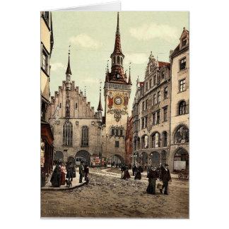 Ayuntamiento viejo, Munich, Baviera, Alemania magn Tarjetas