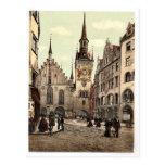 Ayuntamiento viejo, Munich, Baviera, Alemania magn Postal