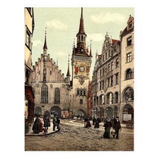 Ayuntamiento viejo, Munich, Baviera, Alemania magn Postales