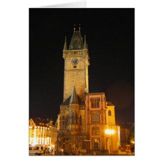 Ayuntamiento viejo Praga Tarjeta De Felicitación