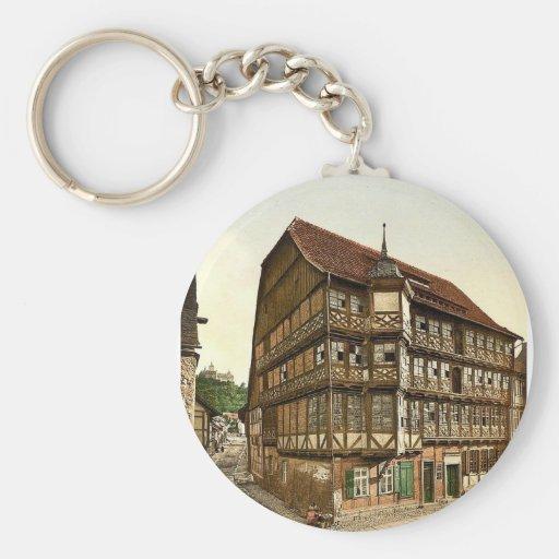 Ayuntamiento y castillo viejos, Wernigerode, Hartz Llavero Personalizado