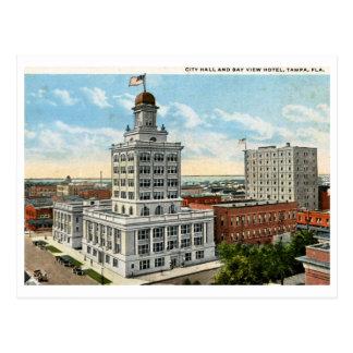 Ayuntamiento y vista de Tampa, vintage 1923 Postal