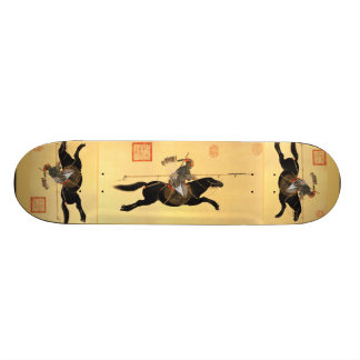 Ayusi attacking with spear Chinese Art Skateboard